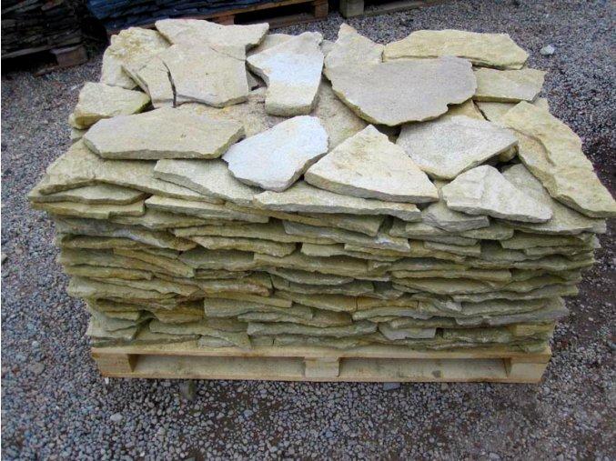Pískovec obklad 10-50cm, tl. 1-3cm