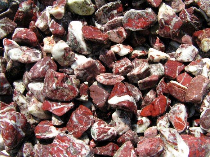 Mramor žilkovaný červený 1-2 cm