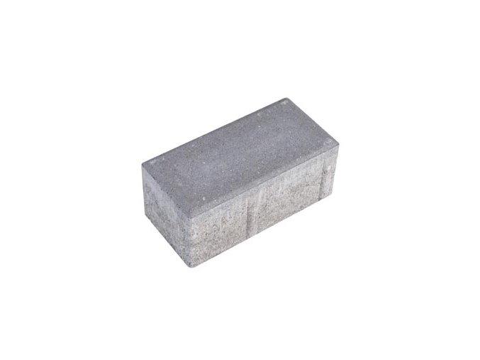 Zámková dlažba parketa 20x10cm 4,5cm - šedá