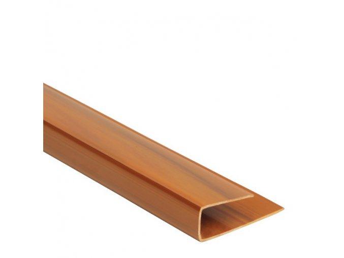 ukončovací profil COLOR zlatý dub - teak
