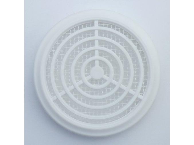 Větrací mřížka kruhová bílá