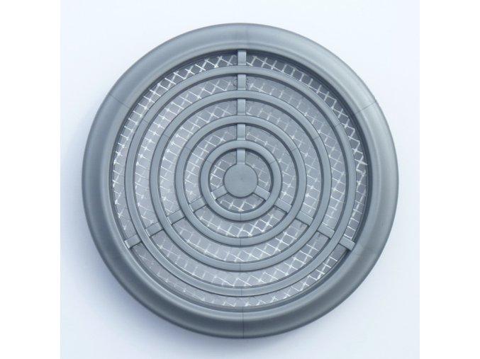 Větrací mřížka kruhová šedá