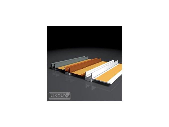 Začišťovací okenní profil bílý 6mm 2,4m