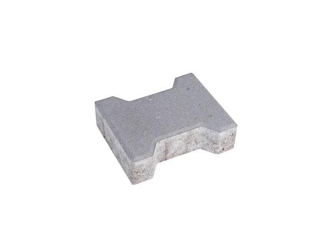 Zámková dlažba Íčko 20x16cm 6cm - šedá