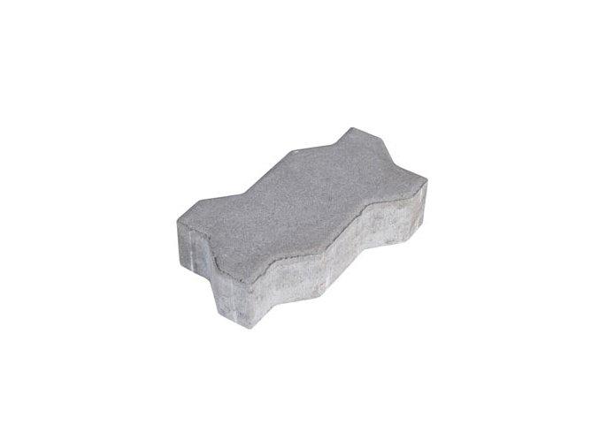 Zámková dlažba UNI 22x11cm 6cm - šedá