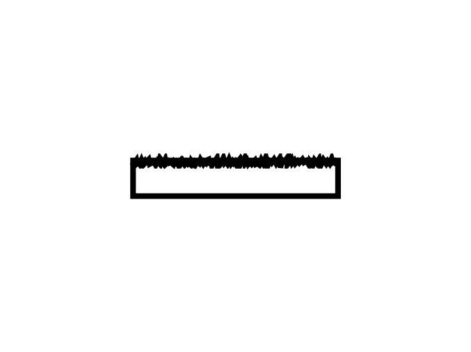 obkladový pásek dlouhý pokus