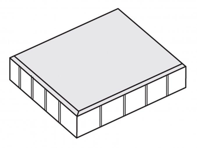 Dlažba plošná hladká 40x40x5cm šedá