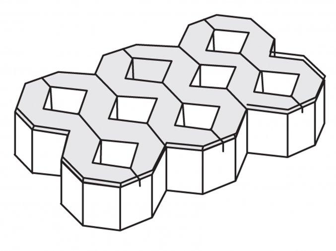 Zatravňovací dlažba 60x40x10cm šedá