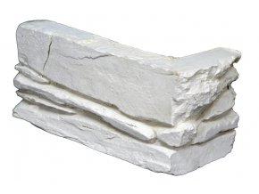 Obklad umělý kámen Shale bílý - roh
