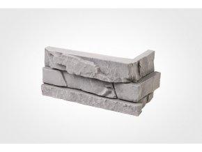 Obklad imitace kamene Bastida šedá - roh