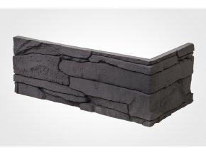 Obklad imitace kamene Ronda tmavá - roh
