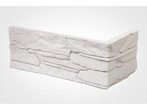 Obklad imitace kamene Ronda bílá - roh