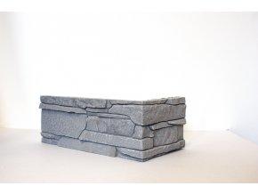 Obklad imitace kamene Ronda šedá - roh