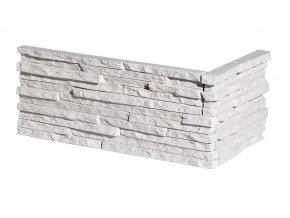 Obklad imitace kamene Palermo 1 white roh - Stegu