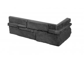 Obklad imitace kamene Grenada 5 graphite roh - Stegu