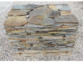 Andezit rezavo hnědý obklad/dlažba 10-50cm  tl.1-3cm