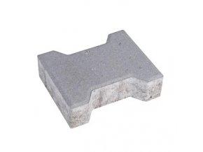 Zámková dlažba Íčko 20x16cm 8cm - šedá