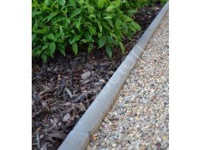 Obrubník zahradní kulatý šedý