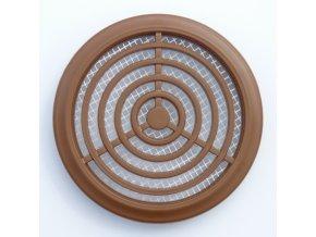 Větrací mřížka kruhová světle hnědá