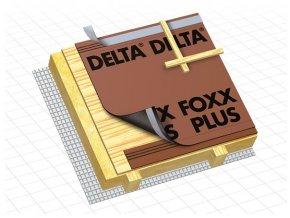 DÖRKEN Delta FOXX PLUS - difuzní pojistná hydroizolace s páskou