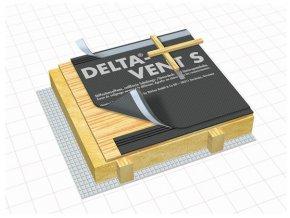 DÖRKEN Delta VENT S PLUS - difuzní střešní folie s páskou