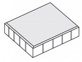 Dlažba plošná hladká 50x50x5cm šedá