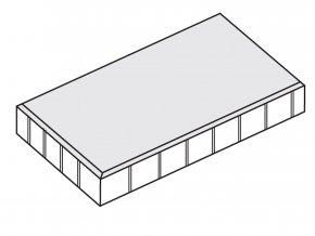Dlažba plošná hladká 60x40x5cm šedá