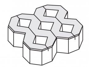 Zatravňovací dlažba 40x40x8cm šedá