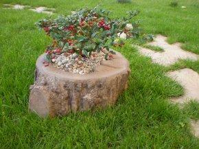 Květináč imitace dřeva, malý 26cm, v. 11cm