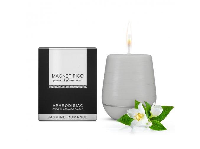 Unikátna afrodiziakálna vonná sviečka Jasmine Romance z rady Magnetifico romantika