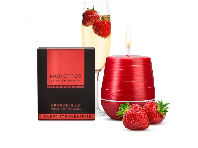 Afrodiziakálna vonná sviečka Sweet Strawberries Feromony