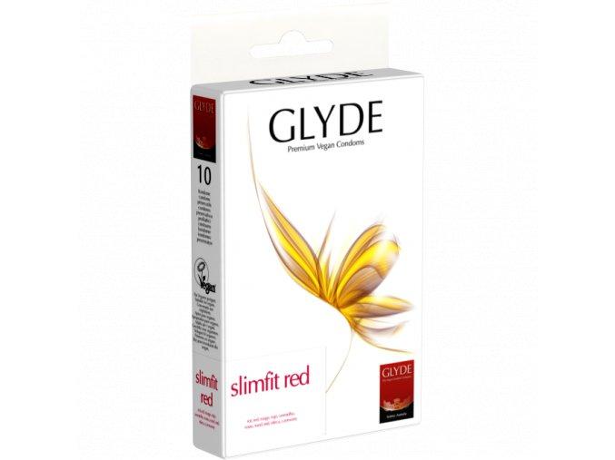 kondom glyde slimfitred 10ks