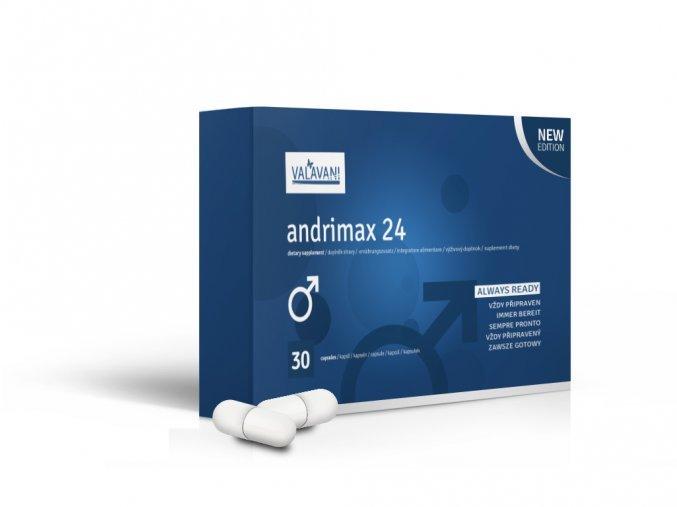 Andrimax 24 - AKCIA 20 + 10 kapsúl na podporu erekcie