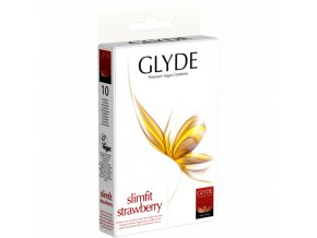 kondomy glyde slimfitstrawberry 10ks