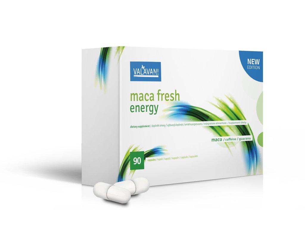 VALAVANI MACA FRESH ENERGY 90 KAPSÚL 90 kapsúl: 1 balenie