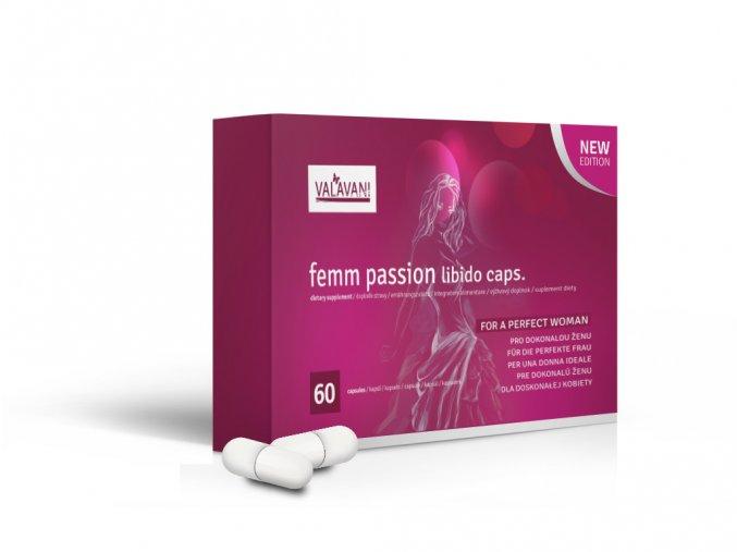 VALAVANI Femm Passion libido 60 kapsúl na zvýšenie libida Varianta produktu: 1 balenie 60 kapsúl