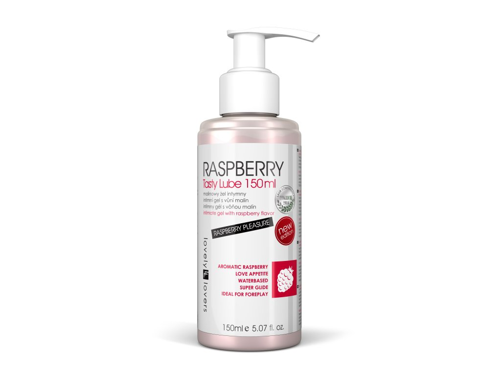 Raspberry tasty lube 150ml lubrikační gel s aroma malin