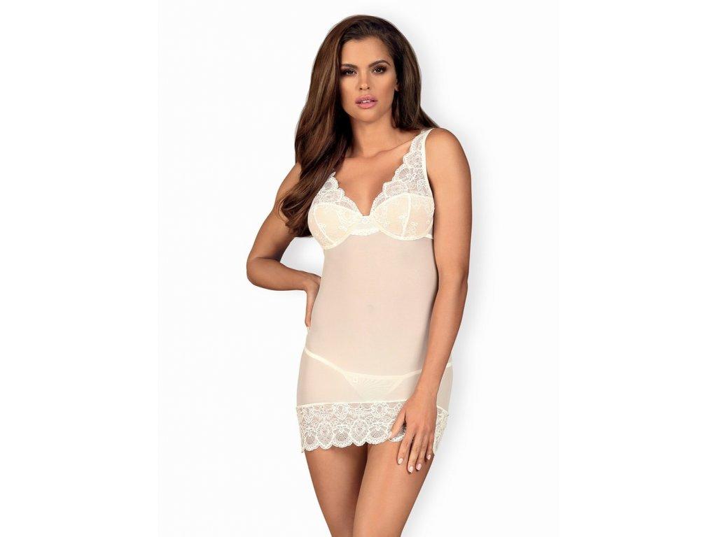 Jemná košilka 853 - CHE white - Obsessive
