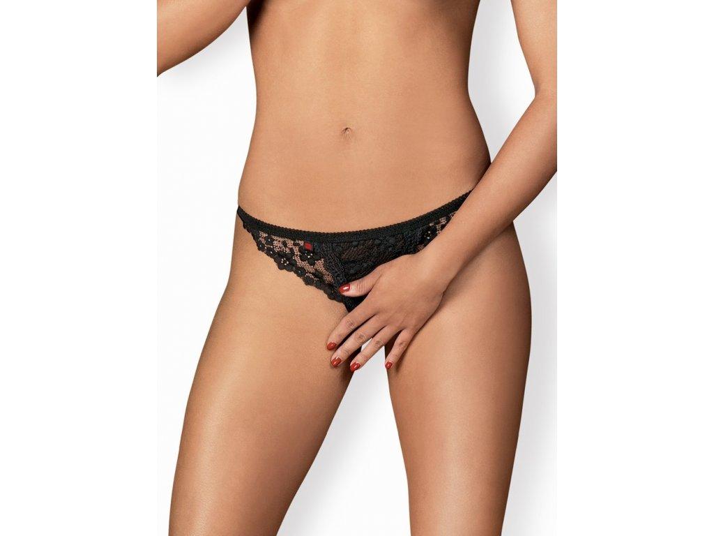 Sexy tanga otevřená Letica crotchless thong - Obsessive