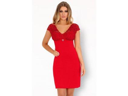 Vzrušující košilka Crossina red - LivCo Corsetti