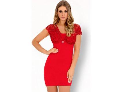 Pohodlná košilka Mishkata červená - LivCo Corsetti