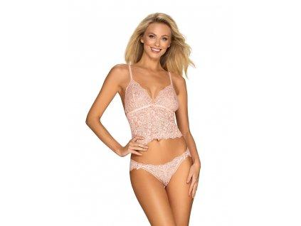 Úžasná souprava Delicanta top & panties pink - Obsessive
