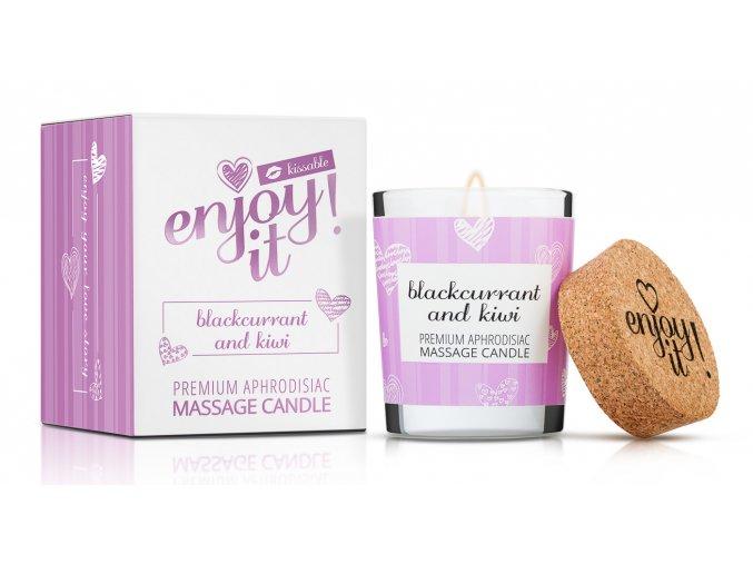 Masážní svíčka MAGNETIFICO Enjoy it! Blackcurrant and kiwi 1