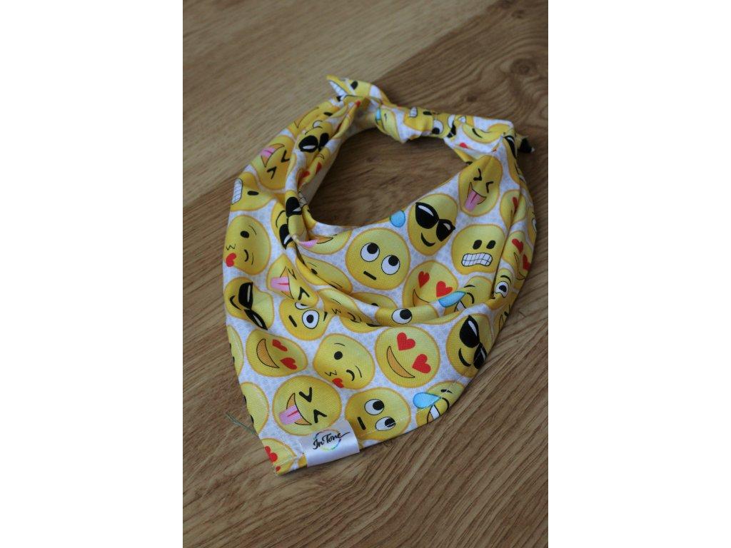 Smajlíci - Šátek pro psa