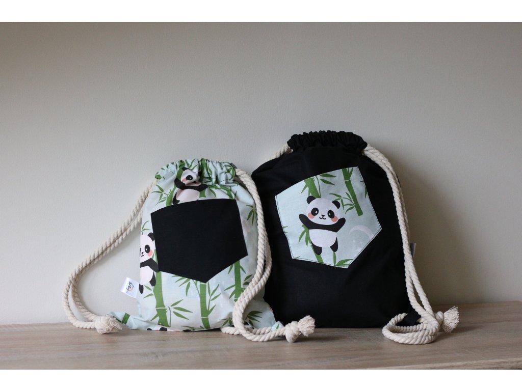 Batůžky s pandami