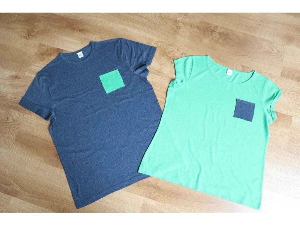 Dámské tričko s kapsičkou