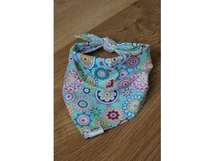 Květy - Šátek pro psa