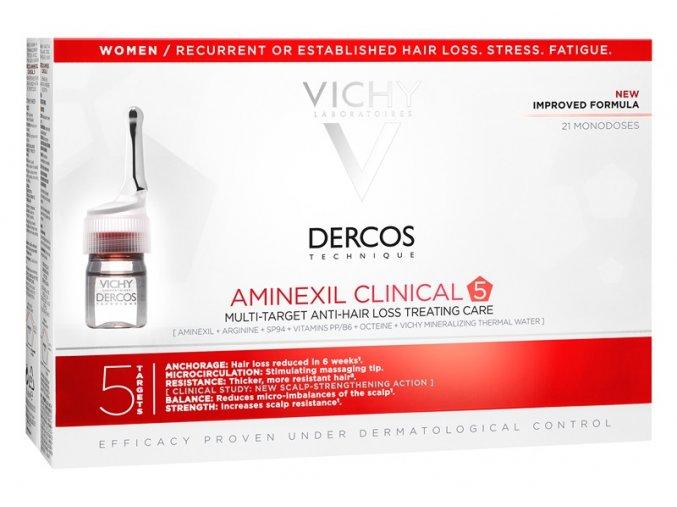 vichy dercos aminexil clinical 5 cilena pece proti vypadavani vlasu pro zeny 14
