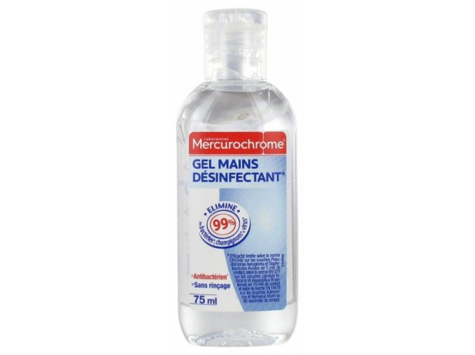 mercurochrome antibacterial gel 75ml nový