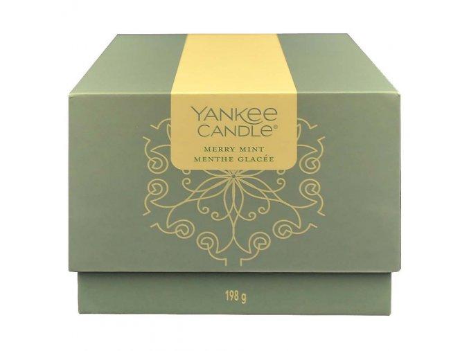 yankee candle darkovy box 198g merry mint